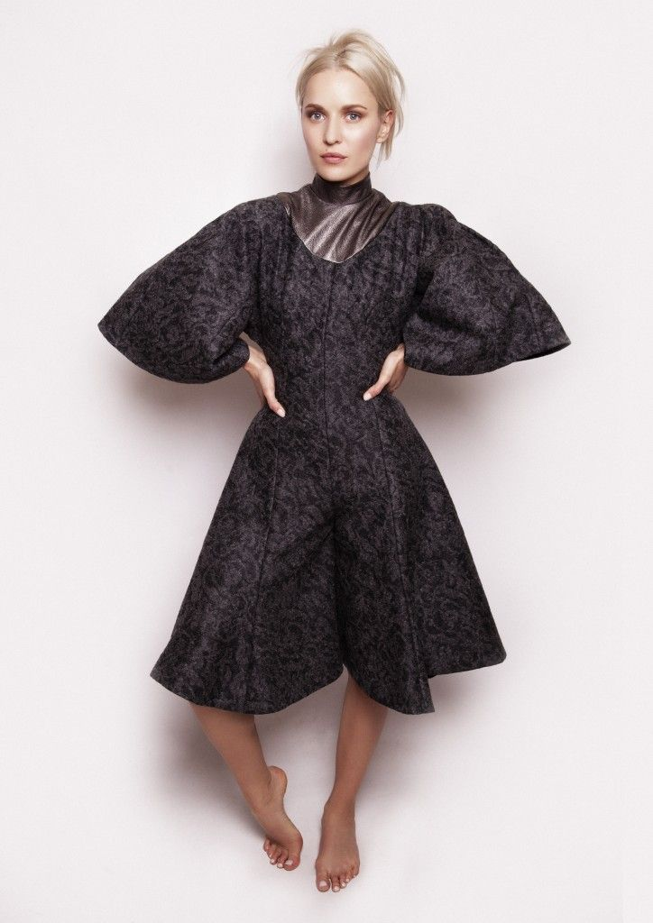 Kelsey Silver Harte 2015 all wool and leather collection. Learn pattern cutting skills at Grafton Academy, #Dublin