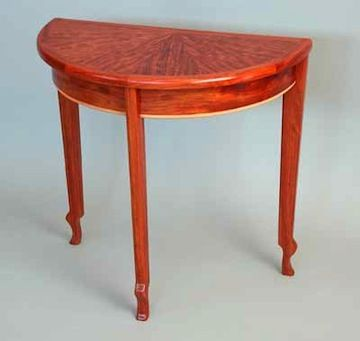Low Bubinga Demilune | Guild Of Vermont Furniture Makers