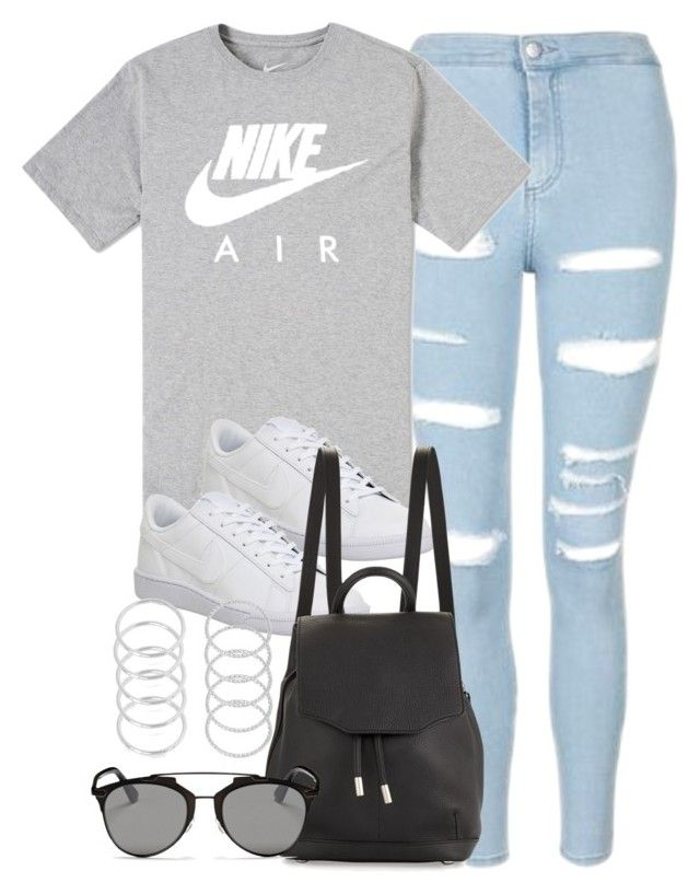 """Style #10916"" by vany-alvarado ❤ liked on Polyvore featuring Topshop, NIKE, rag & bone and Christian Dior"
