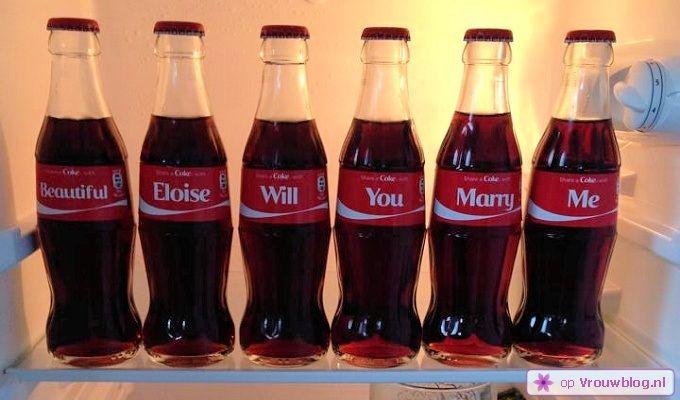 huwelijksaanzoek coca cola