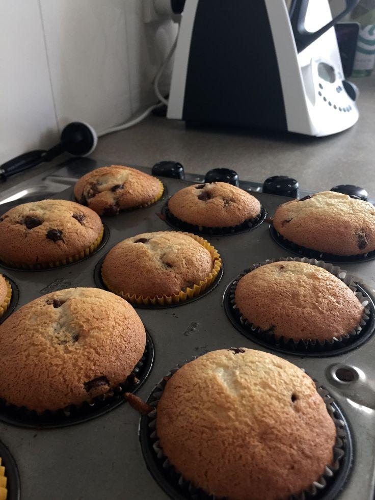 Vanilla and chocolate chip muffins