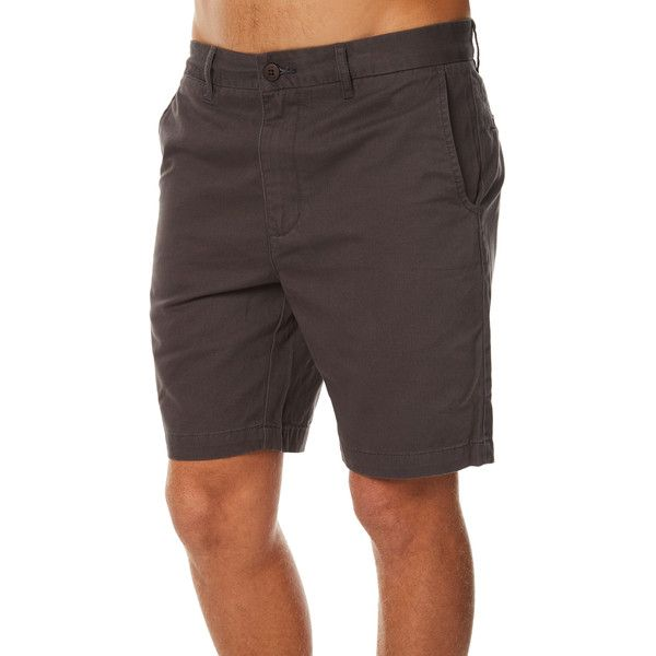 Globe Goodstock Mens Chino Short Grey ($36) ❤ liked on Polyvore featuring men's fashion, men's clothing, men's shorts, grey, men, shorts, mens chino shorts, men's apparel, mens grey chino shorts and mens short shorts