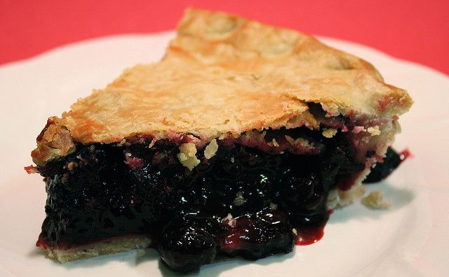 Mom's black raspberry pie.