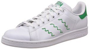 adidas Stan Smith, Sneakers Basses femme – Blanc – Weiß (Ftwr White/Ftwr White/Green), 39 1/3