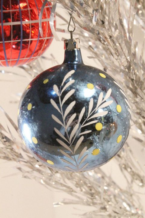 Christmas Ornaments Mercury Glass Balls by ClockworkRummage, $10.00