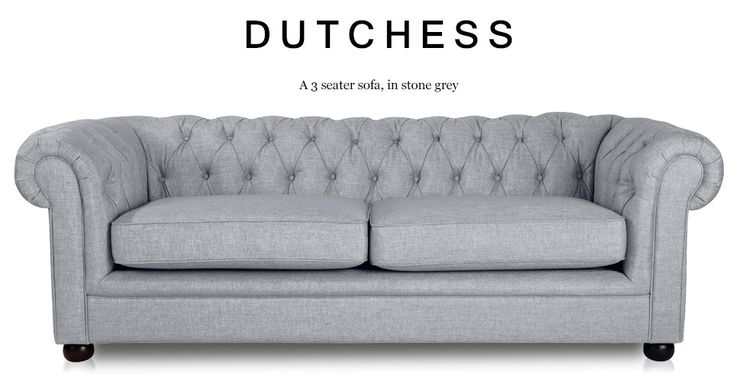 Lovely Dutchess 3 Seater Chesterfield Fabric Sofa Stone Grey Addition Plan - Minimalist fabric chesterfield sofa Style