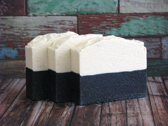 Sea Salt and Charcoal Soap, Luxury Detox Salt Bar, Vegan, Rustic Modern Brown Aqua Green Teal Bricks, Wood Nautical Beach, Ocean Earth Dream
