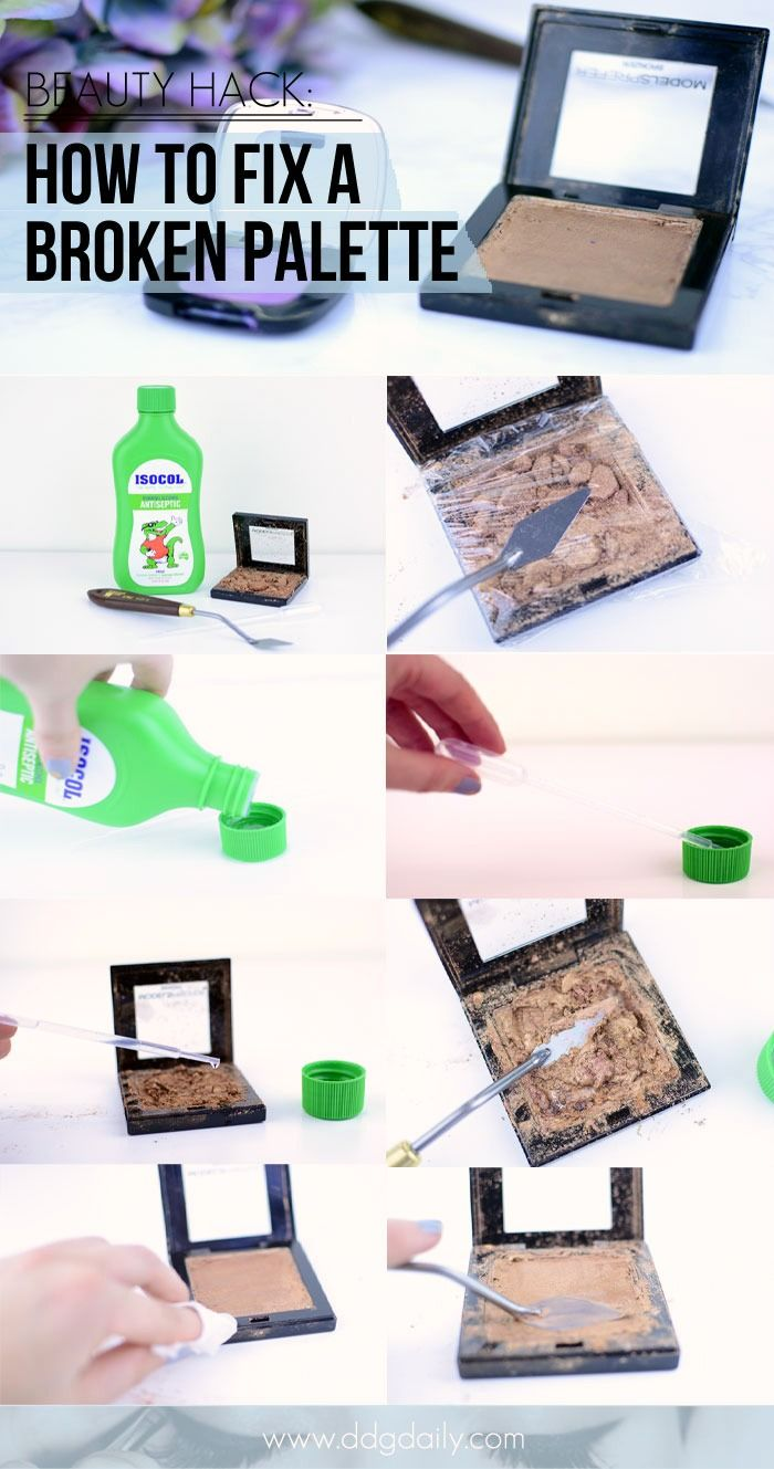 HOW TO SAVE A SMASHED POWDER PALETTE: BEAUTY HACK