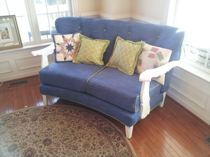 Custom Re Upholstered Loveseat $900   Richmond, VA Http://furnishly. Furniture  UpholsteryVintage ...