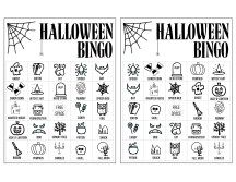 Halloween Bingo Printable Game Cards Template | Paper ...