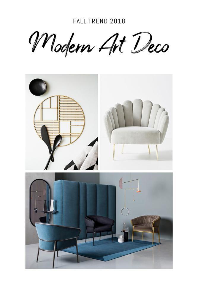 Fall Interior Trends 2018 Art Deco Interior Living Room Modern