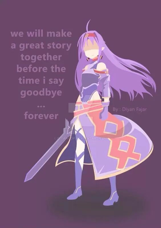 We will make a great story together before we say goodbye forever.