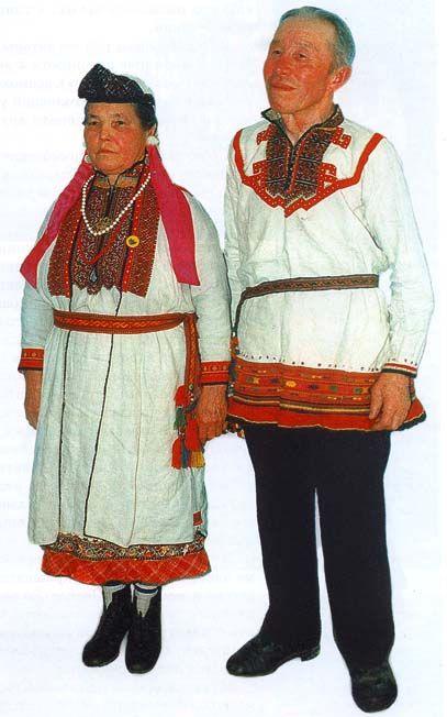 марийский народный костюм картинки стоит