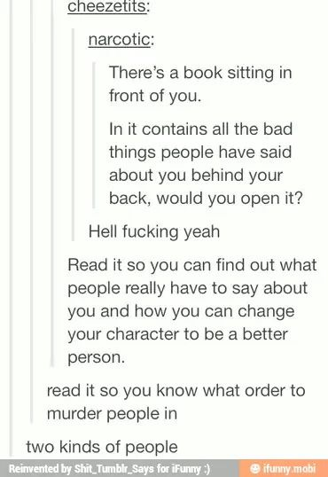 Excuse the language. Yeah I would definitely read it. Then cry a lot probably.