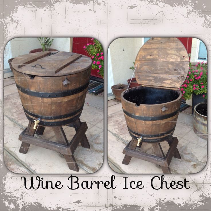 Wine barrel ice chest. Mike Morris Woodworking & Design ...