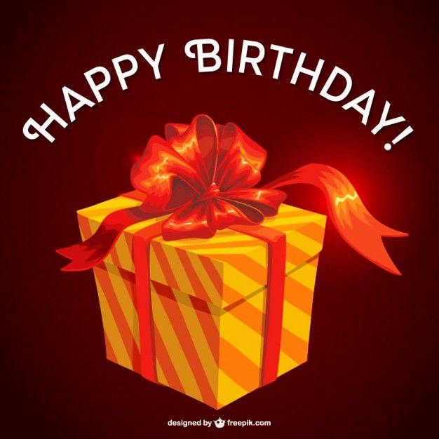 Birthday gift vector design Free Vector