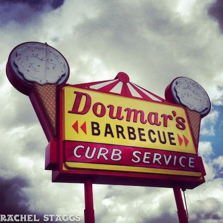 doumar's cone and barbecue: home of the world's first ice cream cone machine! norfolk, virginia
