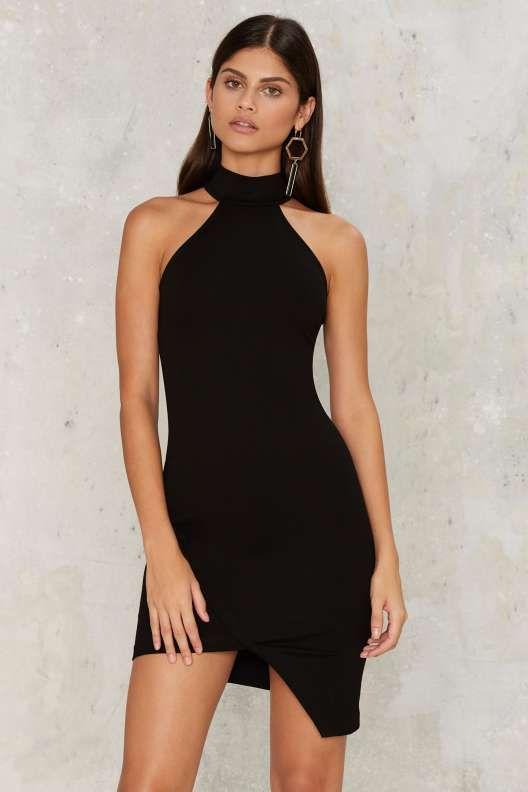 Nasty Gal Ronan Asymmetric Dress - Black