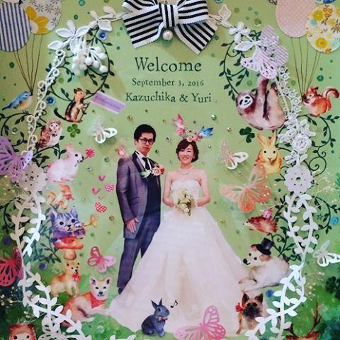 【atelier_kecoru】さんのInstagramをピンしています。 《森の中の結婚式をイメージしたグリーンベースの春バージョンです  #コジャレプロジェクト #ウェルカムボード #ウェルカムボード制作 #ウェルカムボードオーダー #ウェディングアイテム #ウェディングフォト #披露宴 #ウェディング プレ花嫁 #花嫁準備 #コラージュ #手作り #記念日 #イラスト #マカロン #かわいい #おしゃれ #春バージョン #ガーランド #スワロフスキー #春 #蝶々#森 #森の中の結婚式 #グリーン》