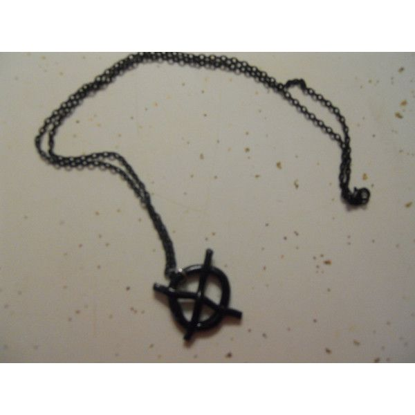 The Operator Symbol Necklace ($4.99) ❤ liked on Polyvore featuring jewelry, necklaces, creepypasta, slenderman, black jewelry, black chain necklace, chain necklace, black necklace and chain jewelry