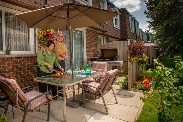 Private patios