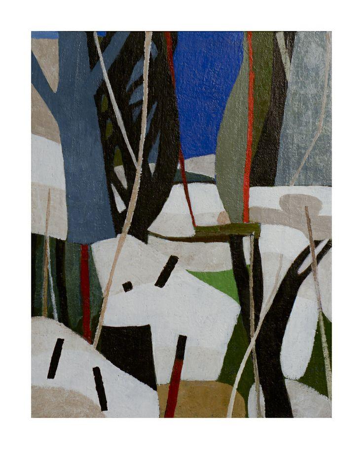 Peter Ramon Snowy Field Painting