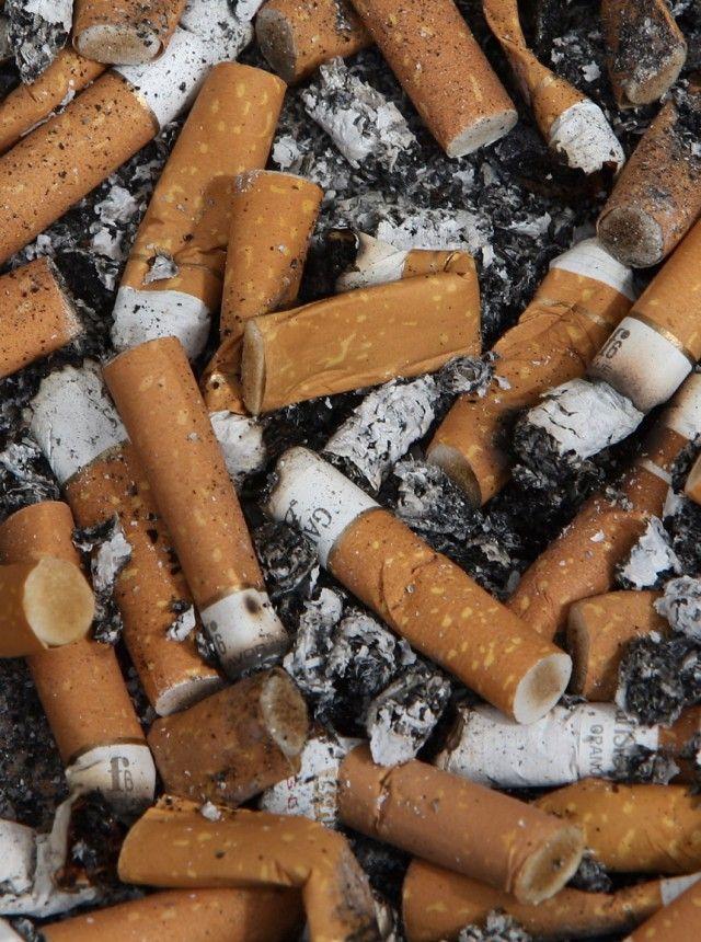 Zigaretten als Umweltverschmutzung Viel Gift in der Kippe