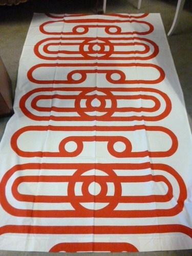 70s Fabric from Tampella Finland Marjatta Seppälä design Siro