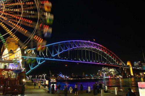 View Vivid on a high with free Ferris Wheel rides... - #vividsydney