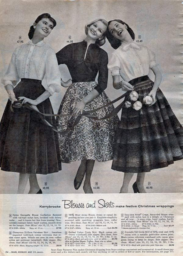 1950s Dresses & Skirts: Styles, Trends & Pictures 1956