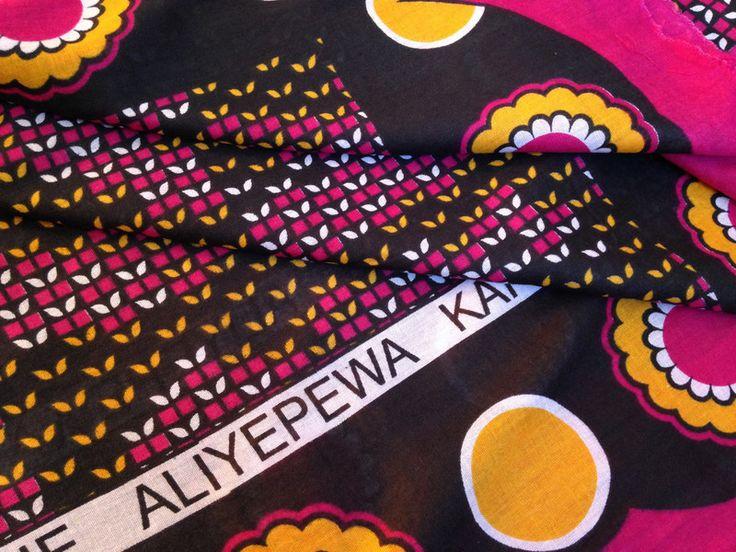 """Stoff afrikanisch - afrikanischer Stoff: Kanga """"butterfly"""" - ein Designerstück von Madukani bei DaWanda"""