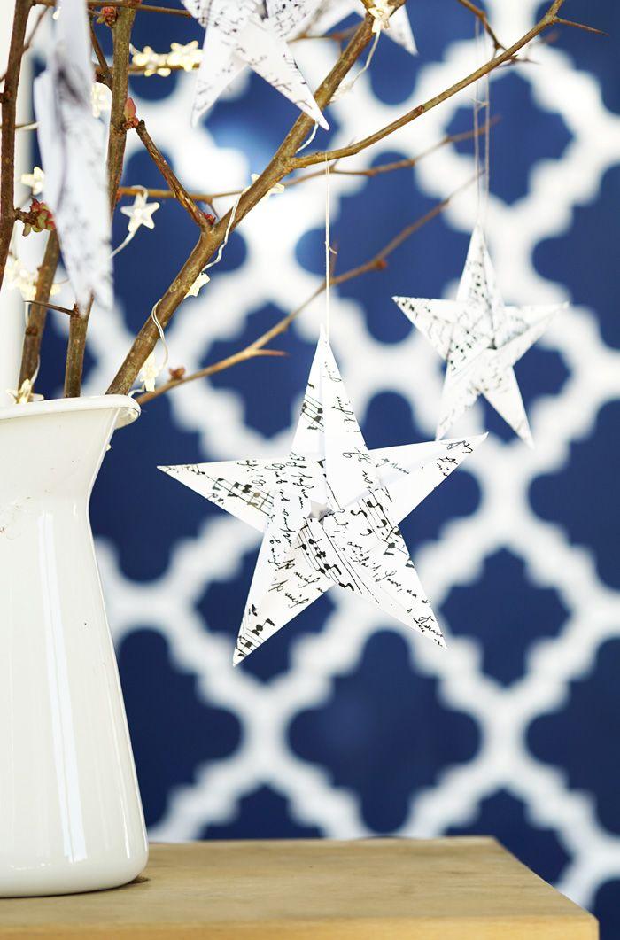Diy Christbaumschmuck Origami Weihnachtssterne Advent Weihnachten