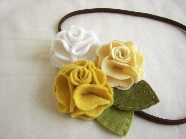 geranium felt flower headband