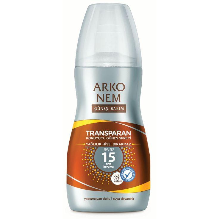 Arko Nem Transparan Koruyucu Güneş Sprey SPF 15 150 ml ::