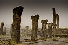 that almost archaeological quality at an abandoned industrial site  Industrial Landscape at Levant - Google Search