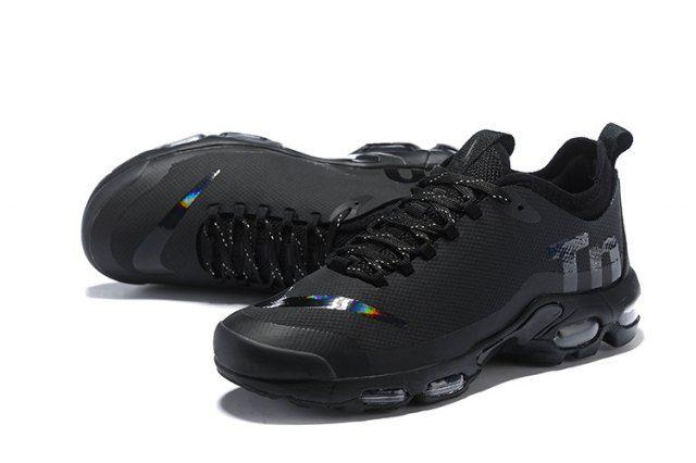 Mens Nike Air Max Plus Mercurial TN Trainers Triple Black
