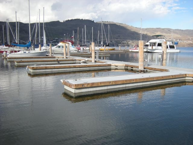 Vernon Yacht Club Marina built by Burton Marine