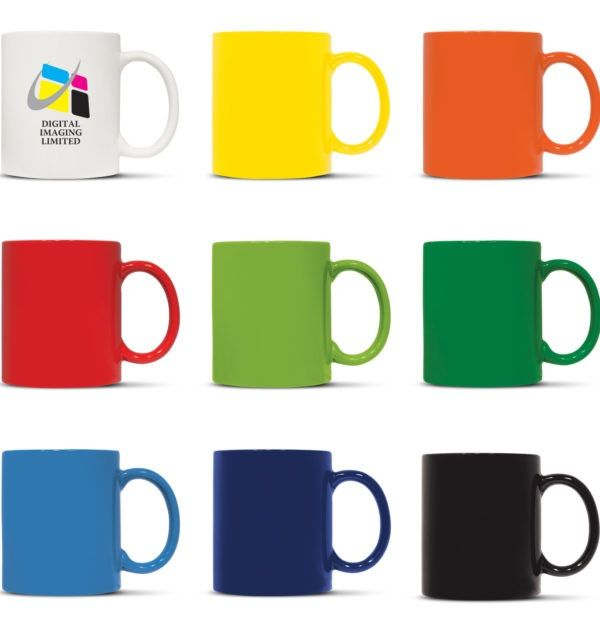 Round, 300ml D handle stoneware #coffeemug presented in a Black gift box. The inside of the mug is White with a stunning range of bright outer colours and the branding options available are dishwasher safe. Send us your brand image or any image, and we will print it on this product. These are quality products at the best prices and so are subject to a minimum order quantity.  http://chameleonprint.com.au/product/ceramic-coffee-mug/