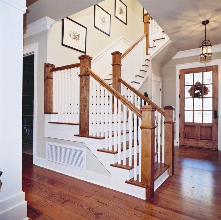 Colonial Grade Heart Pine Flooring....like the stair landing....would it work for basement stairs?