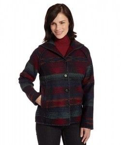 Jackets  Woolrich Women's Sandy Run Coat, Black Stripe, XX-Large SALE!!!