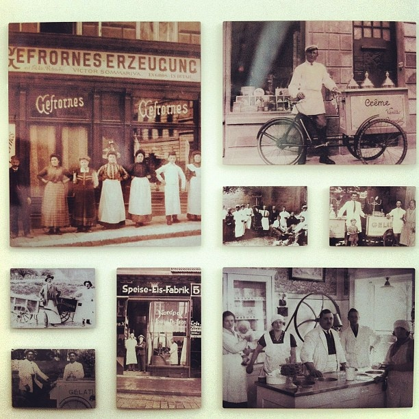 Carpigiani, one of the premier makers of Gelato equipment, vintage photos