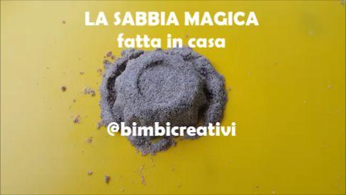 La ricetta della SABBIA MAGICA fatta in casa