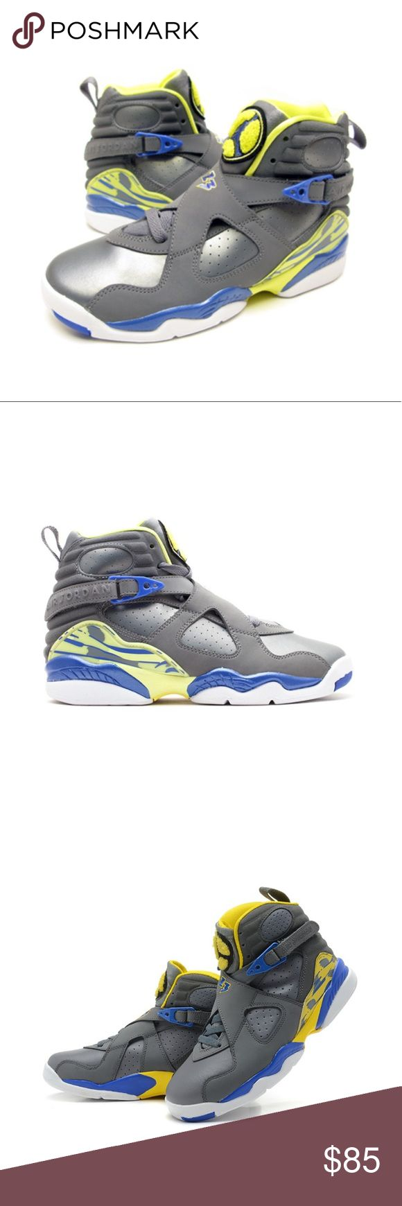 AIR JORDAN RETRO 8! This product had been purchased at Footlocker. Quality of this product is slightly used. Receipt and original box are not included. Air Jordan Shoes Sneakers