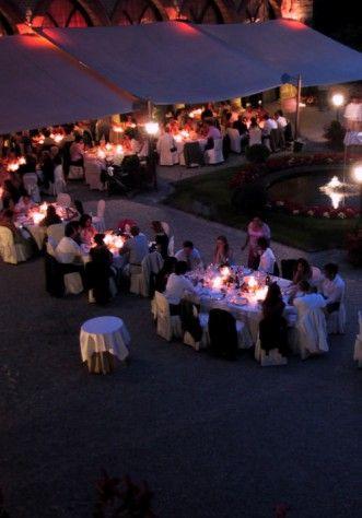 Castello di Marne, una cena all'aperto