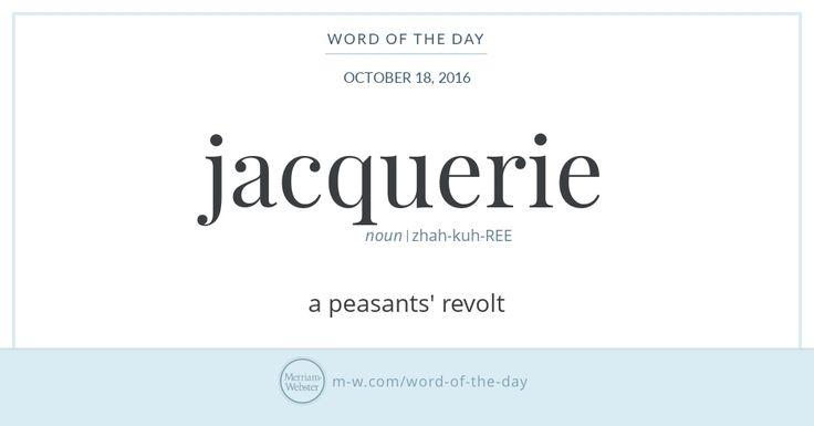 The first jacquerie was an insurrection of peasants against the nobility in northeastern France in 1358, so-named from the nobles' habit of referring contemptuously to any peasant as 'Jacques,' or '