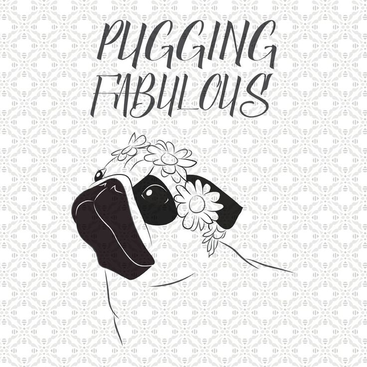 Pugging Fabulous, Pug SVG, Dog Svg, SVG cutting file, Cricut, kawaii, Dxf, PNG, Vinyl, Eps, Cut Files, Clip Art, Vector, Quote, Saying by SVGEnthusiast on Etsy