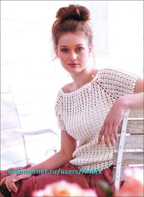 innovart en crochet: Hoy quiero tejer en blanco...