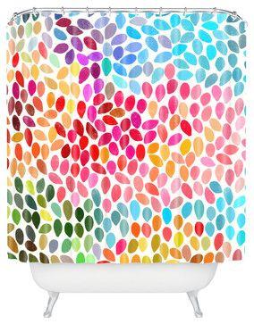 Garima Dhawan Rain 6 Shower Curtain eclectic-shower-curtains