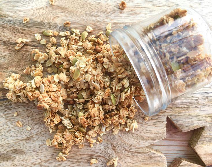 Gluten and refined sugar free vanilla granola made with