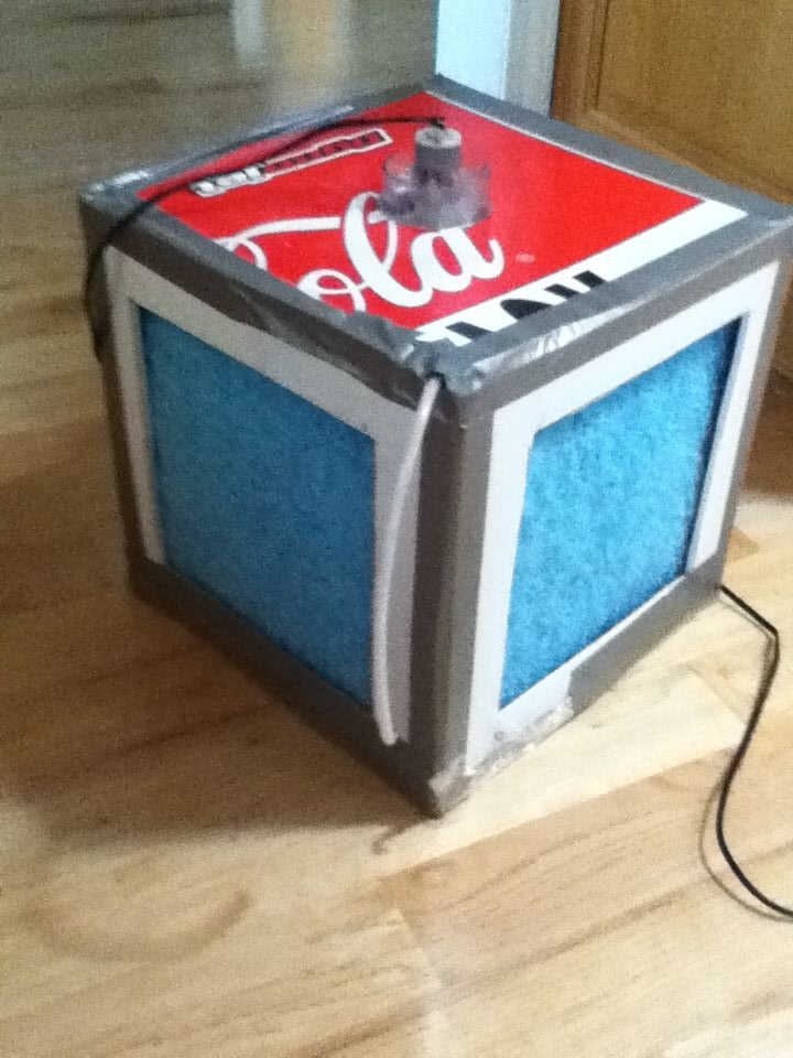 DIY: 1'sq Evaporative Cooler (Swamp Cooler) out of recycled parts on Instructables by book man